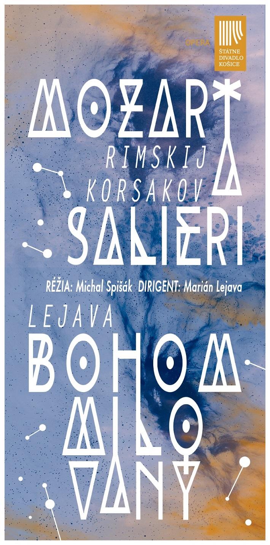 Mozart a Salieri, Bohom milovaný, Štátne divadlo Košice, 2016, plagát
