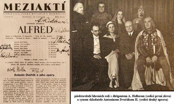 Prvé uvedenie opery A. Dvořáka Alfred v Olomouci, 1938