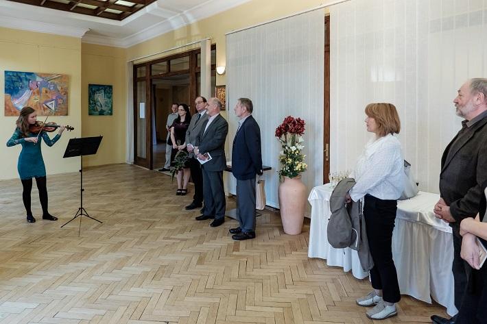 Vernisáž výstavy prác akademického maliara Miroslava Radeva, Štátna filharmónia Košice, 2016, foto: Jaroslav Ľaš