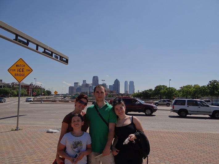Ľubica Vargicová s deťmi v Dallase, foto: súkr. archív Ľ. Vargicovej