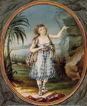 Anna Gottliebová, (1774 - 1856), prvá Pamina v Mozartovej Čarovnej flaute