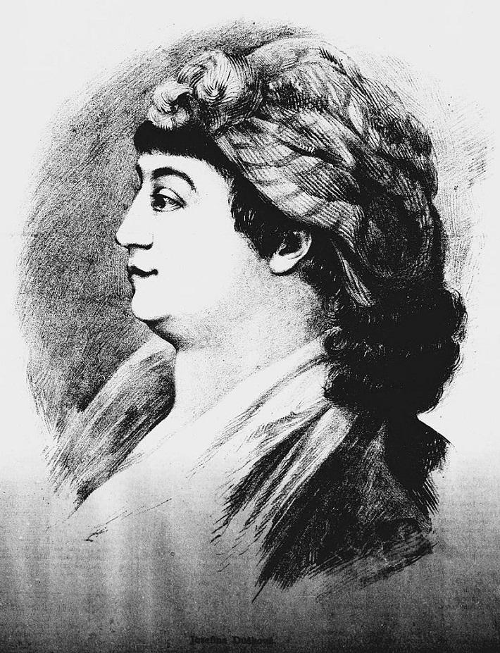 Josefína Dušková (1754-1824), kreslil: Jan Vilímek, 1884
