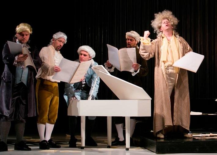 Marián Lejava: Bohom Milovaný, Opera ŠD Košice, 2016, A. Baculík, M. Lukáč, Z. Vislocký, M. Gurbáľ,  J. Gráf, foto: Joseph Marčinský