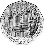 Pamätná medaila k výročiu viedenskej Spoločnosti priateľov hudby