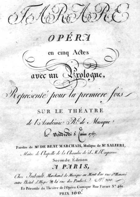 Plagát k opere Tarare