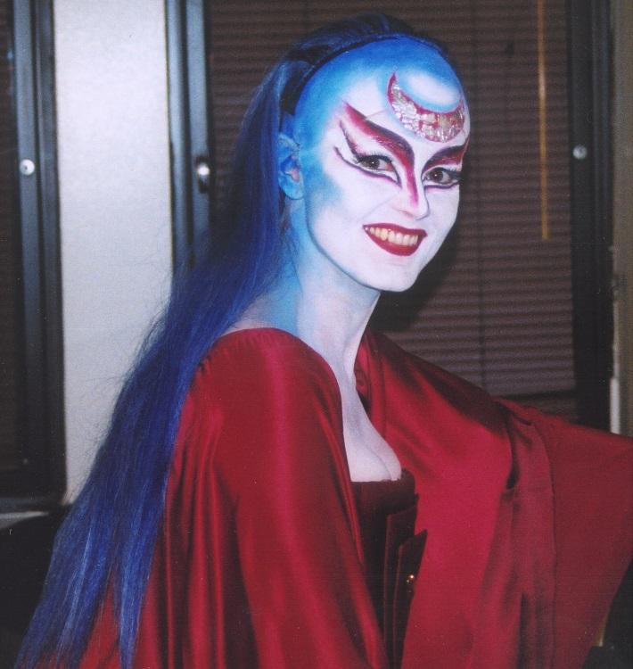 W. A. Mozart: Čarovná flauta, Metropolitná opera New York, 2004, Ľubica Vargicová (Kráľovná noci), foto: súkr. archív Ľ. Vargicovej