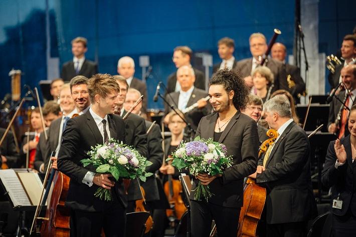 Klassik Picknickt, Drážďany 2016, Krzysztof Urbański, Nemanja Radulović, Sächsische Staatskapelle Dresden, foto: Oliver Killig