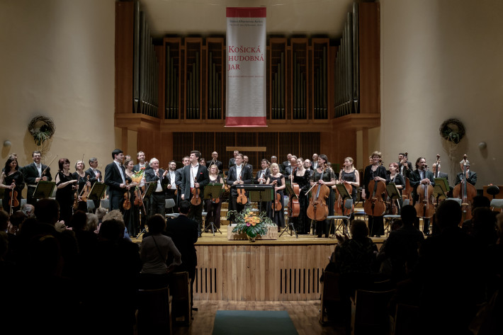 Košická hudobná jar 2016, Ondrej Lenárd, orchester ŠF Košice, foto: Jaroslav Ľaš