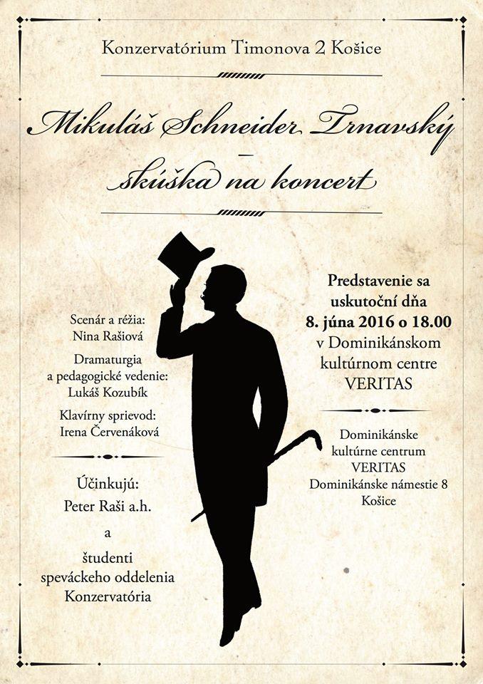 Mikuláš Schneider-Trnavský – Skúška na koncert, plagát