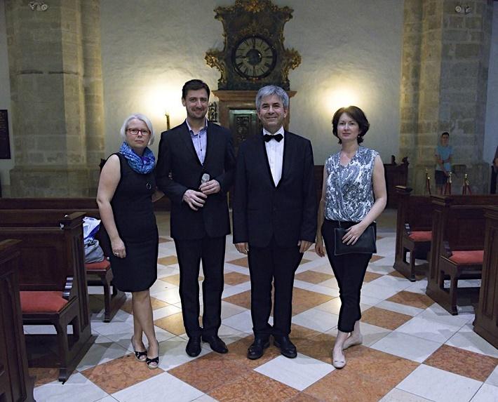 Bratislavský organový festival 2016, Martina Tolstová, Marek Vrábel, Stéphane Béchy, Andrea Serečinová, foto: Ján Lukáš