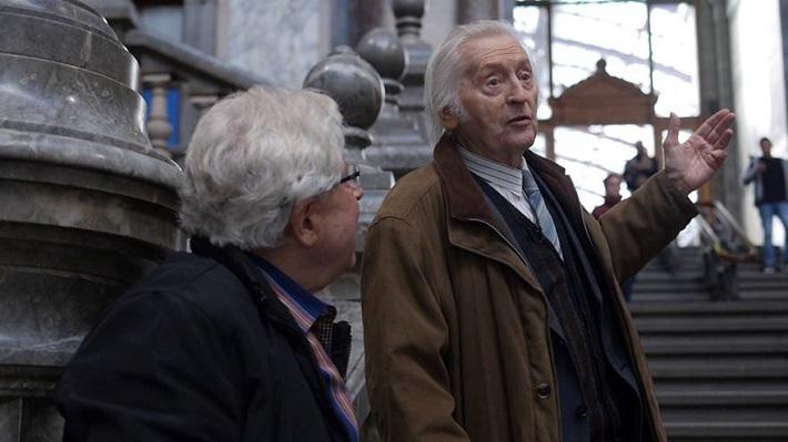 Ján Valach s režisérom Dušanom Tóthom v Antverpách, foto z nahrávania filmu Ján Valach