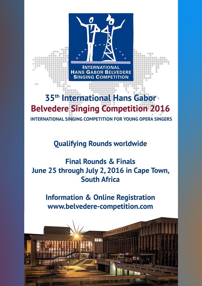 Medzinárodná spevácka súťaž Belveder 2016, plagát