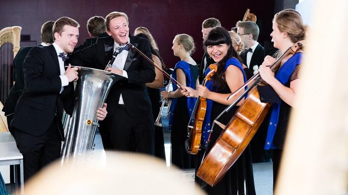 Mládežnícky orchester Európskej únie (EUYO), foto: Sebastian Philipp