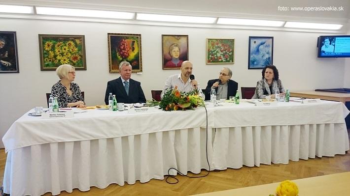 Tlačová konferencia v Slovenskej filharmónii, 2016, M. Tolstová, M. Lapšasnký, E. Villaume, I. Marton, I. Pažítková, foto: Ľudovít Vongrej