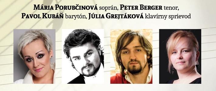 účinkujúci Operného gala 2016 v Kežmarku, M. Porubčinová, P. Berger, P. Kubáň, J. Grejtáková