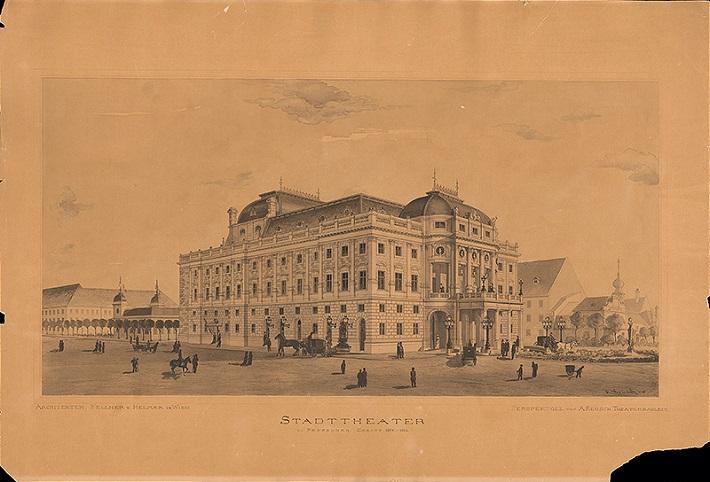 Anton Keusch: Mestské divadlo v Bratislave, 1885, foto: Galéria mesta Bratislavy