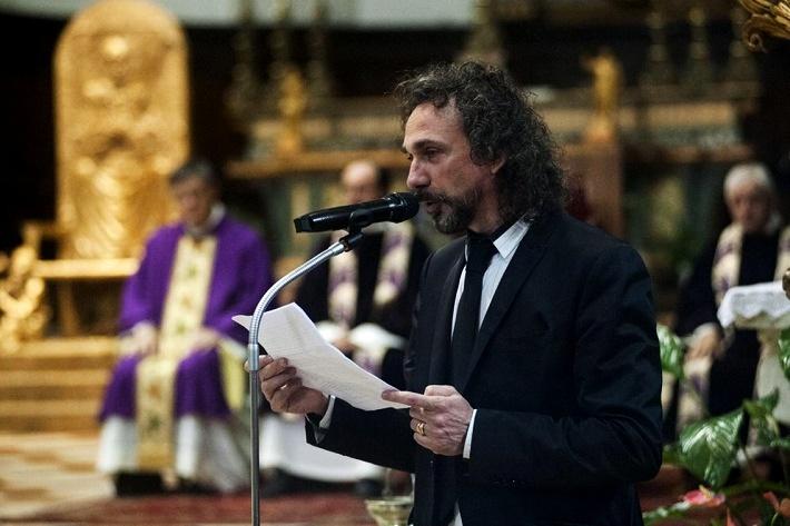 Fabio Armiliato počas smútočného prejavu v Dóme v Brescii, foto: Papetti/giornaledibrescia.it