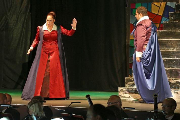 G. Donizetti: Maria Stuarda, Operalia Banská Bystrica, 2016, Yolanda Auyanet (Maria Stuarda), Celso Albelo (Roberto), foto: Jozef Lomnický