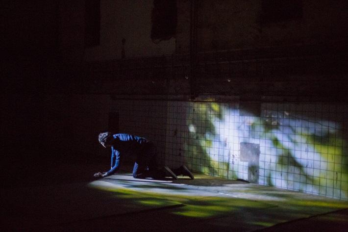 Unterreise, scénické naštudovanie piesní Franza Schuberta, 2016, zo skúšky Der Tod und das Mädchen, foto: Martina Šimkovičová