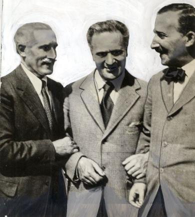 Arturo Toscanini, Bruno Walter, Stefan Zweig v Salzburgu, 1934