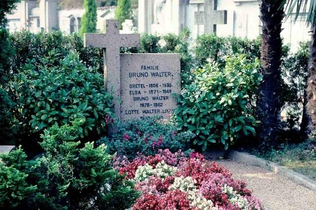 Hrob Bruna Waltera na cintoríne San Abbondio, Collina (Švajčiarsko)