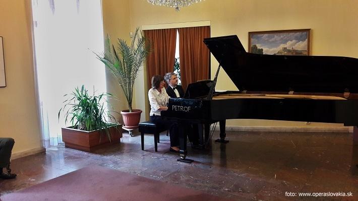 Klavírne duo Ida Černecká & František Pergler, Mirbachov palác GMB, 2016, foto: Ľudovít Vongrej