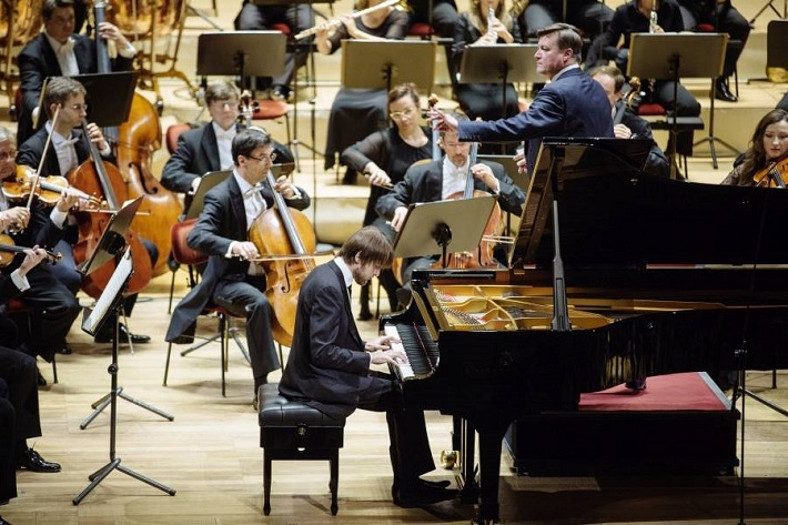 Koncert Sächsische Staatskapelle Dresden, 2016, Daniil Trifonov, Christian Thielemann, foto: Oliver Killig