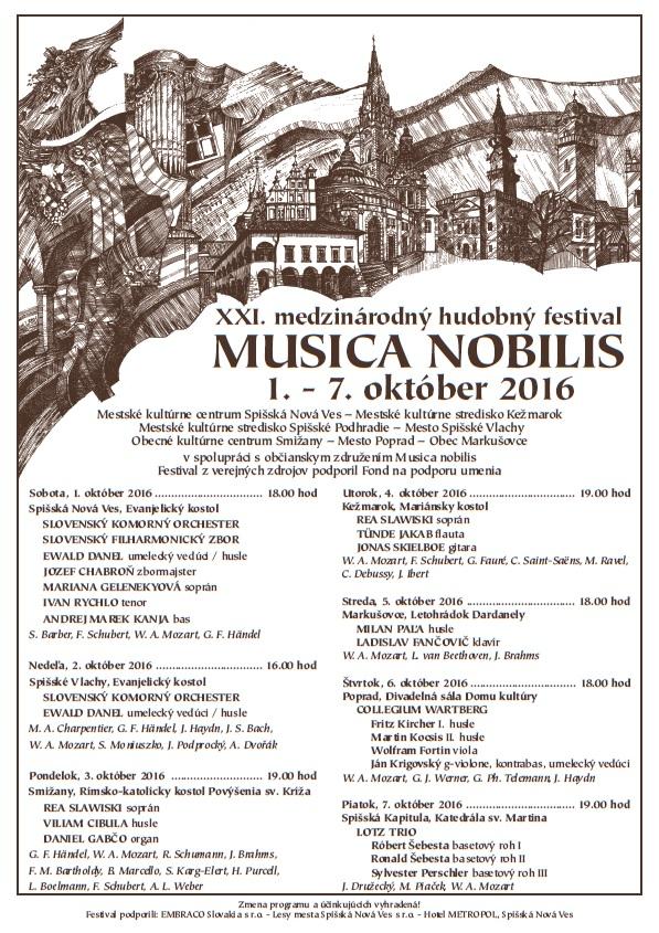 Musica Nobilis 2016, plagát.