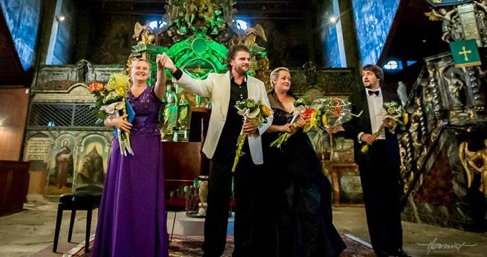 Operné gala v Kežmarku 2016, Júlia Grejtáková, Peter Berger, Mária Porubčinová, Pavol Kubáň, foto: Zdenko Hanout