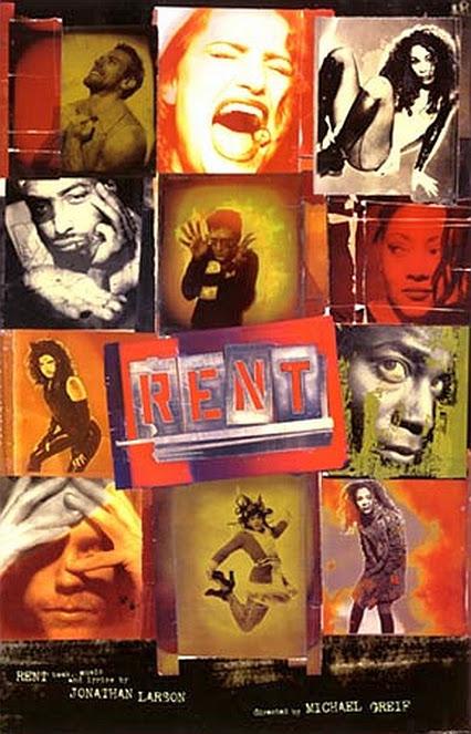 Plagát k premiére muzikálu Rent