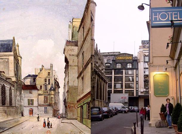 Prêtres-Saint-Germain-l'Auxerrois v roku 1849 ...a dnes