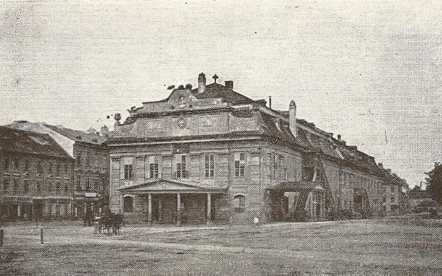 Prvá kamenná budova Mestského divadla v Prešporku otvorená v roku 1776