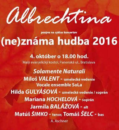 Albrechtina, (ne)známa hudba 2016, Anton Aschner, Requiem d mol, koncert
