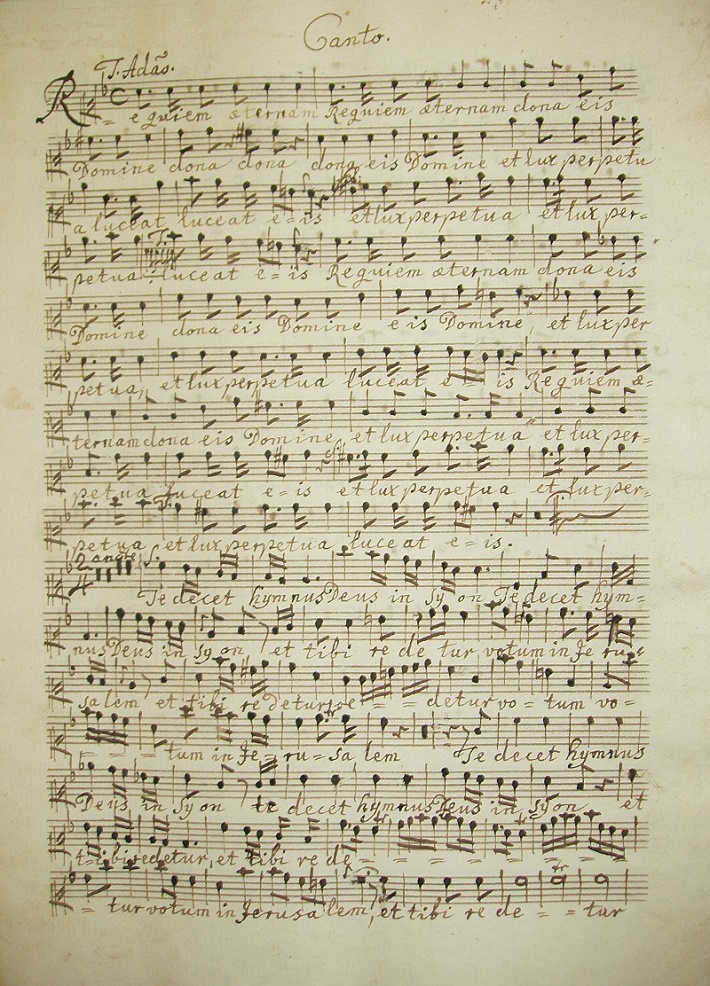 Anton Aschner: Requiem d mol; prvá strana partu sopránu