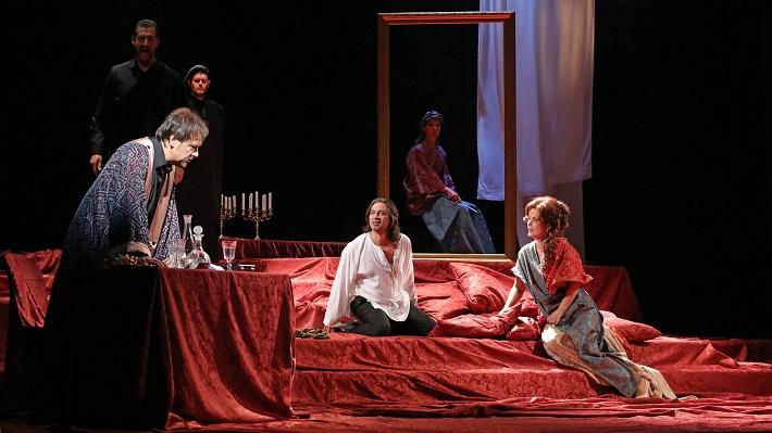 G. Puccini: Tosca, Štátna opera Banská Bystrica, 2016, Šimon Svitok (Scarpia), Paolo Lardizzone (Cavaradossi), Jolana Fogašová (Tosca), foto: Jozef Lomnický