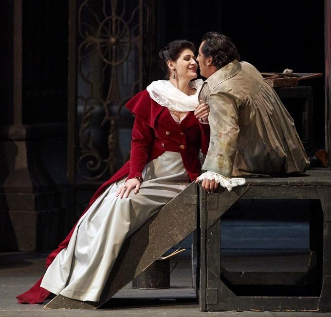G. Puccini: Tosca, Viedenská štátna opera, 2016, Anja Harteros (Tosca), Jorge de León (Cavaradossi), foto: Michael Pöhn
