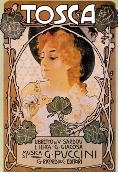 G. Puccini: Tosca, obálka klavírneho výťahu opery