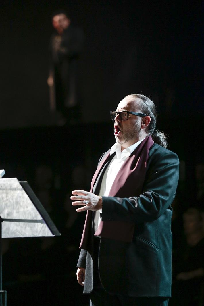 H. Berlioz: Faustovo prekliatie, SND, 2016, Ľudovít Ludha (Faust), foto: Ctibor Bachratý