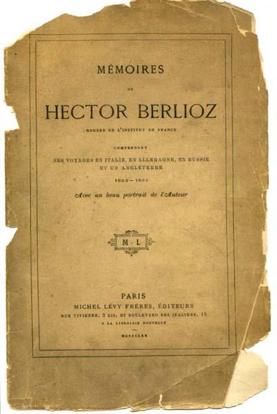Hector Berlioz: Mémoires, (Pamäti), obálka knihy