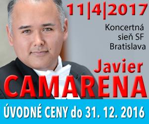 Javier Camarena, koncert v Bratislave, Kapos.