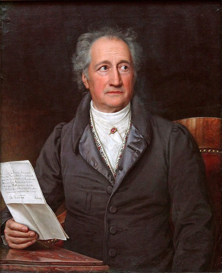 Johann Wolfgang Goethe (1749 – 1832), portrét z roku 1828, autor: Joseph Karl Stieler