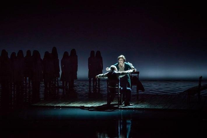 L. Janáček: Káťa Kabanová, Národní divadlo Brno, 2016, Eva Urbanová (Kabanicha), Jiří Sulženko (Dikoj), foto: Marek Olbrzymek