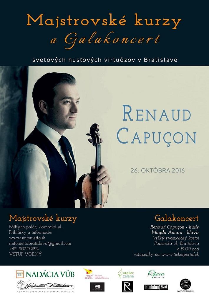 Majstrovské kurzy svetových virtuózov v Bratislave, Renaud Capuçon, plagát