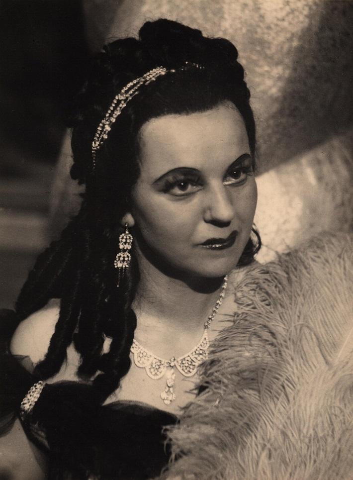 Milada Marková (1913 – 1986), na fotografii ako Tosca, foto: Archív Mestského divadla Olomouc