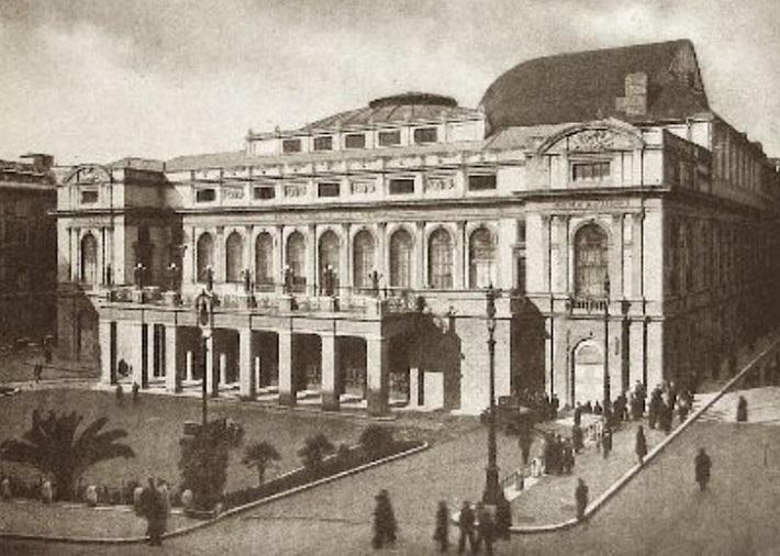 Teatro Costanzi, Rím, dobová ilustrácia