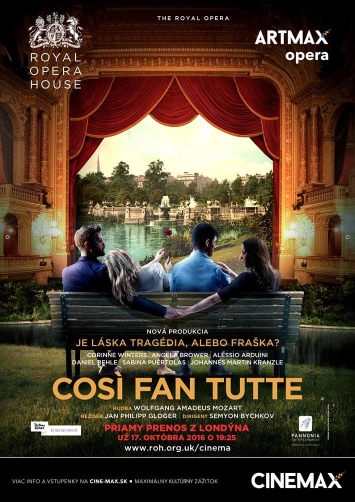 W. A. Mozart, Così fan tutte, Royal Opera House, 2016, Artmax opera CINEMAX, poster