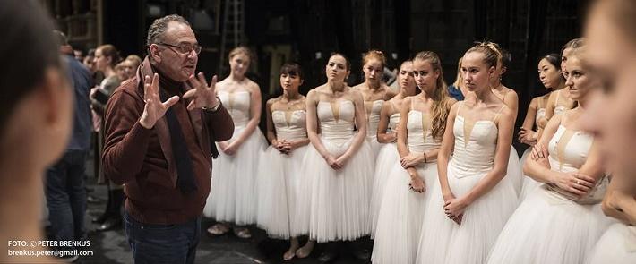 Adolphe Charles Adam: Giselle, Balet SND, 2016, Rafael Avnikjan, foto zo skúšky, foto: Peter Brenkus
