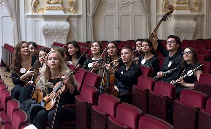 Bratislavské hudobné slávnosti 2016, 14. mladí poslucháči VŠMU a Konzervatória, fotografia zo skúšky, foto: Ján Lukáš