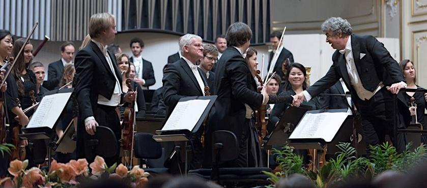 Bratislavské hudobné slávnosti 2016, Royal Concertgebouworchestra Amsterdam a 14. mladí poslucháči VŠMU a Konzervatória, foto: Ján Lukáš