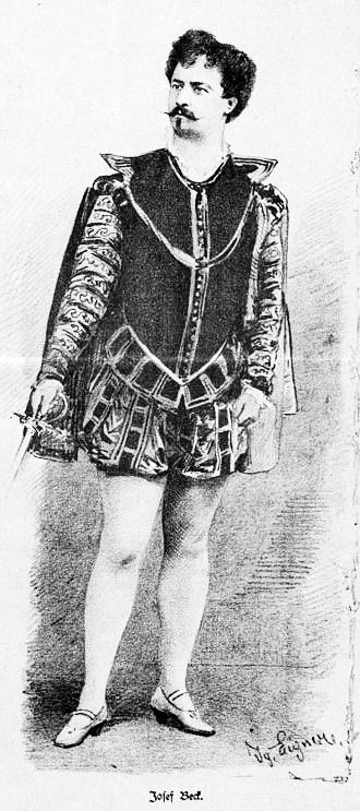Joseph Beck, barytón, hosťujúci umelec Raulovej spoločnosti 1895 – 1896, foto: Wikipédia